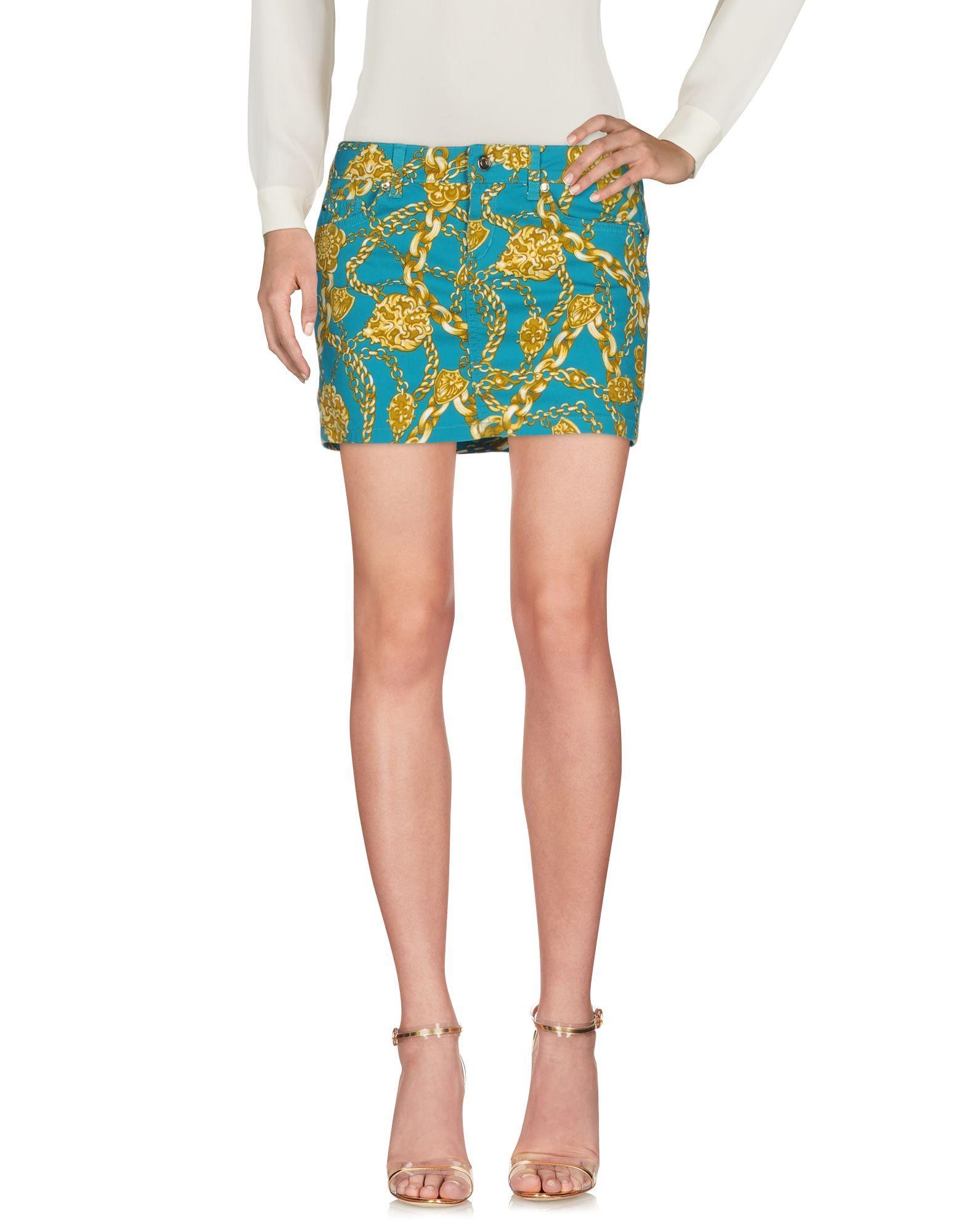 Liu •jo Mini Skirt In Turquoise