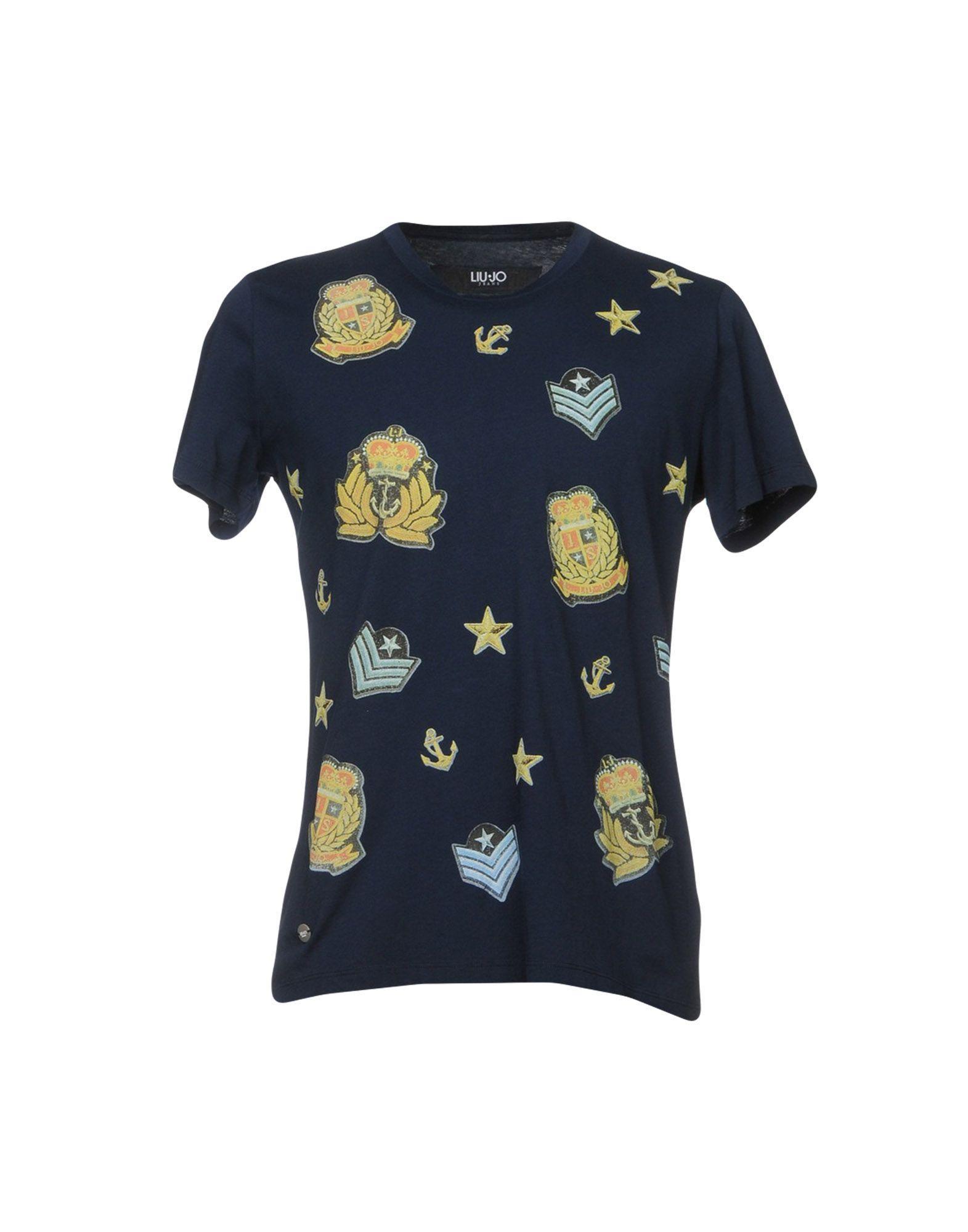 Liu •jo T-shirts In Dark Blue
