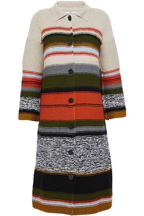 Rosetta Getty Woman Intarsia-knit Coat Taupe