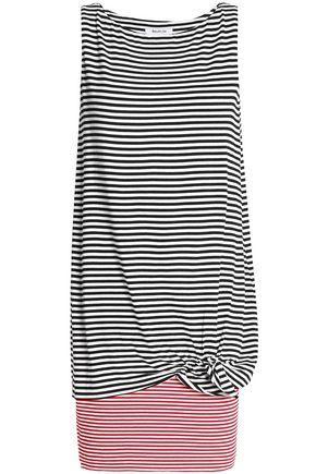 Bailey44 Woman Layered Striped Stretch-jersey Mini Dress White