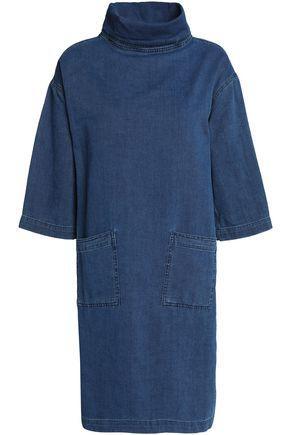 M.i.h Jeans Woman Westbourne Denim Turtleneck Mini Dress Mid Denim