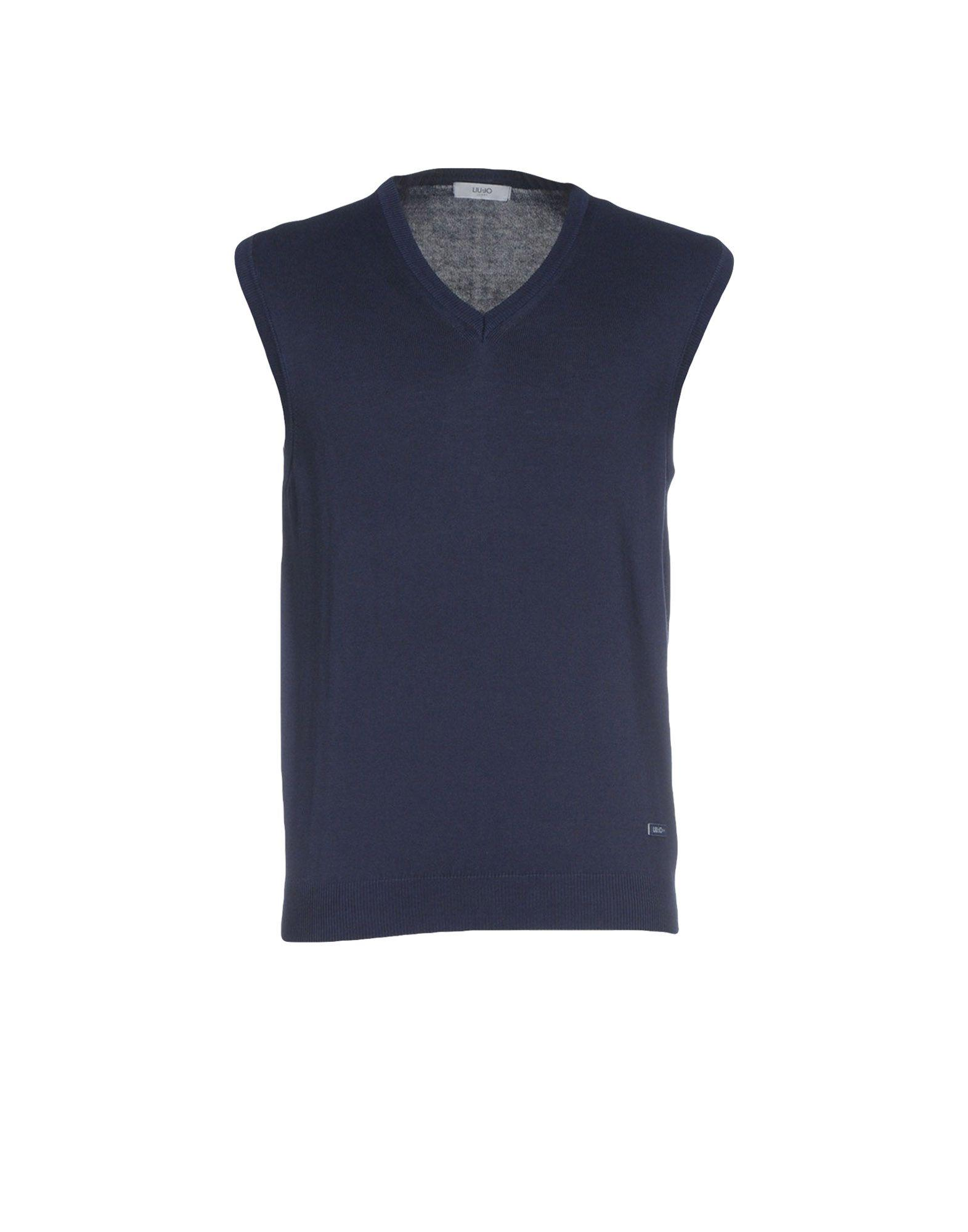 Liu •jo Sleeveless Sweater In Dark Blue