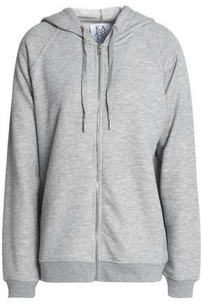 Zoe Karssen Woman Cotton-blend Terry Hooded Sweatshirt Light Gray