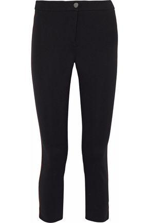Belstaff Woman Striped Paneled Stretch-ponte Pants Black