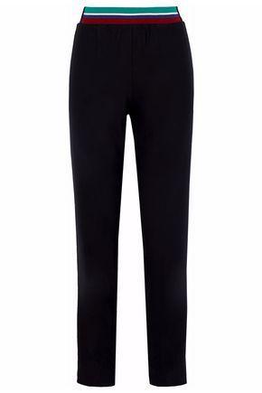 Tibi Woman Crepe Tapered Pants Black