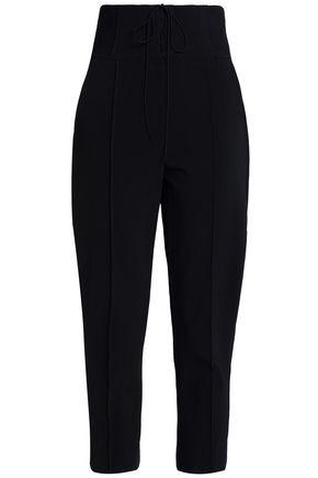 Nicholas Woman Cropped Cady Tapered Pants Black