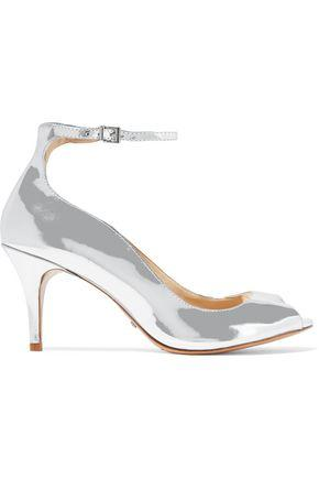Schutz Woman Liffa Mirrored-Leather Pumps Silver