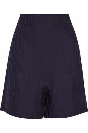 Acne Studios Woman Satin-jacquard Shorts Midnight Blue