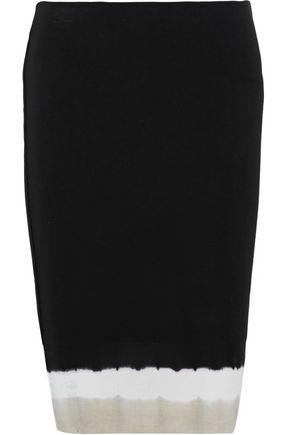 Bailey44 Woman Tie-dye Stretch-jersey Skirt Black