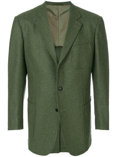 Jijibaba Smiley Buttons Jacket - Green