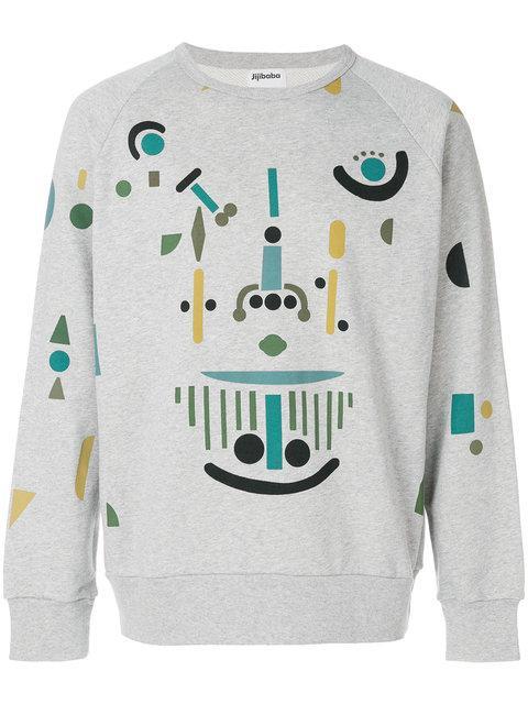 Jijibaba Mechanic Print Sweatshirt