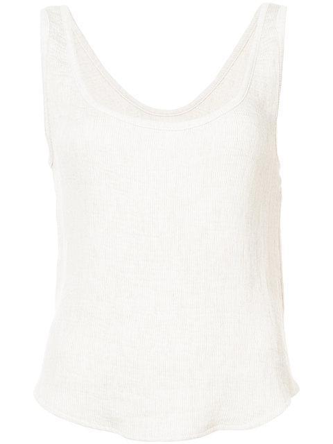 Simon Miller Shoshone Ribbed Vest - White