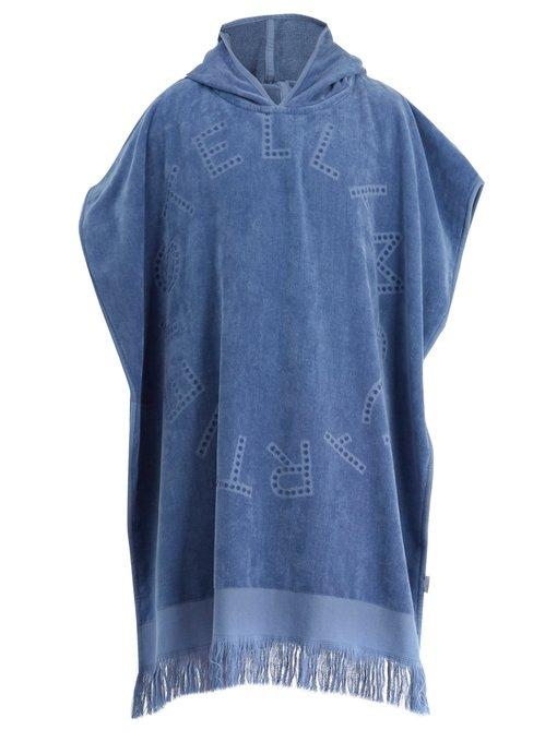 Stella Mccartney - Hooded Cotton Poncho - Mens - Blue