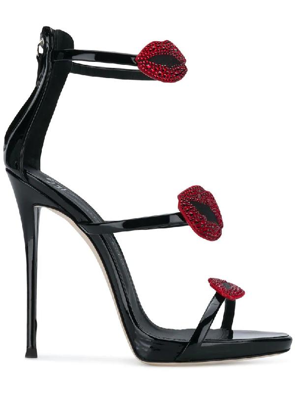 8753988cd5aae Giuseppe Zanotti Women's Embellished Patent Leather High Heel Sandals In  Black