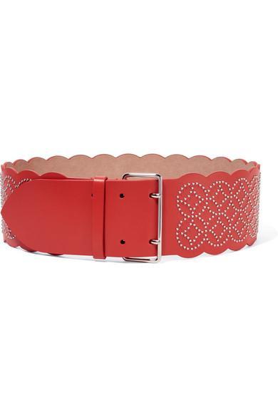 AlaÏa Studded Leather Waist Belt