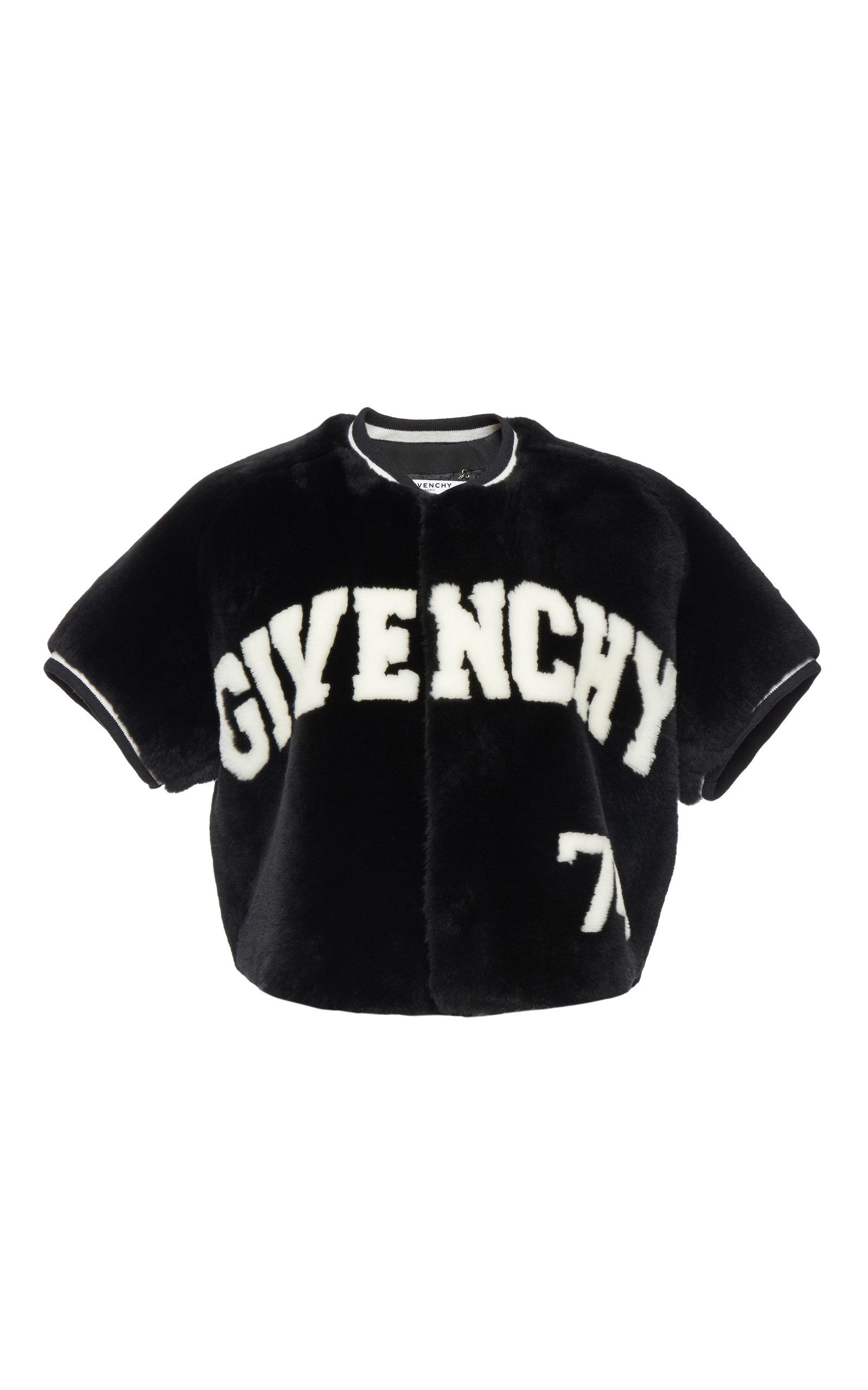 Givenchy Cropped Fur Jacket In Black/White