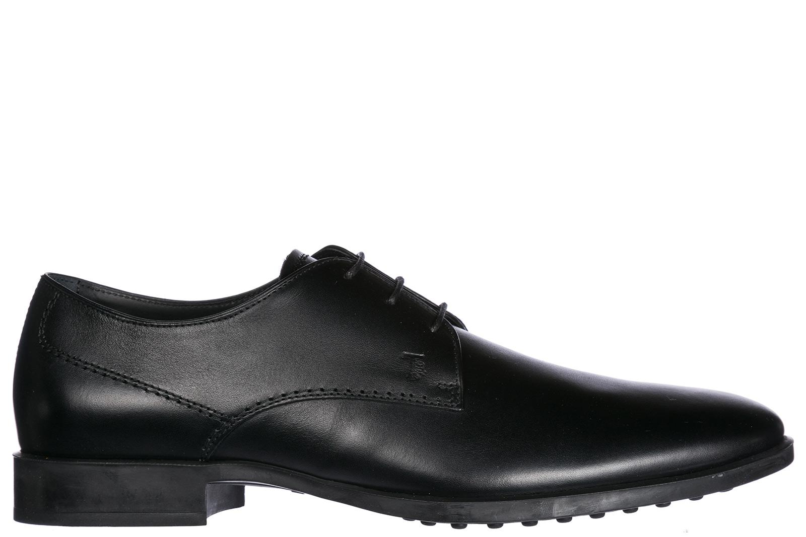 Tod's Men's Classic Leather Lace Up Laced Formal Shoes Derby In Black