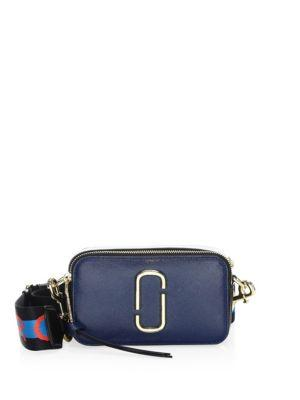 35f1eaa1bd4a Logo Strap Snapshot Small Camera Bag w Shoulder Strap crafted in colorblock  saffiano leather