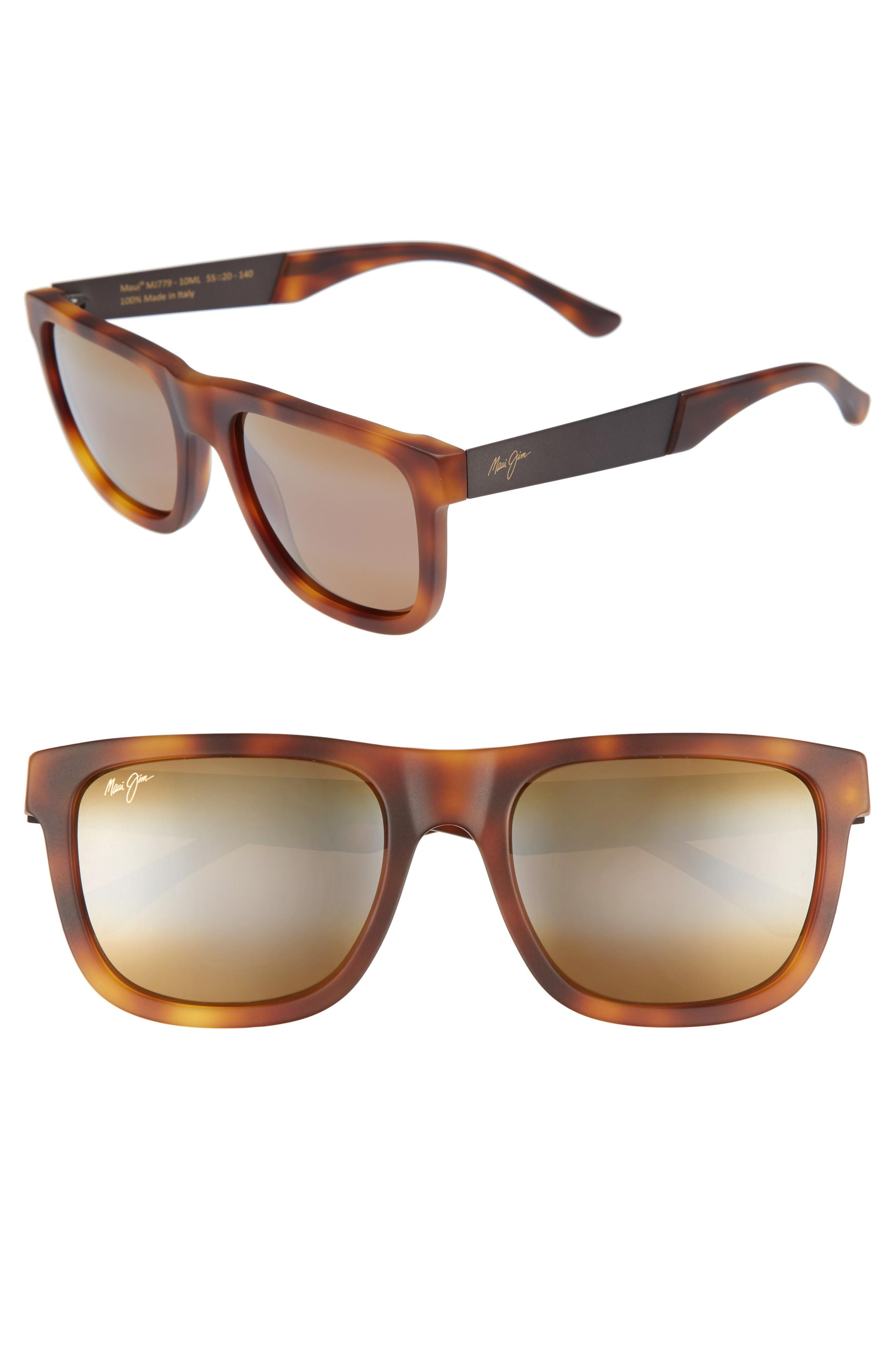 35454e5bec Maui Jim Talk Story 55Mm Polarized Sunglasses - Matte Tokyo Tortoise  Bronze