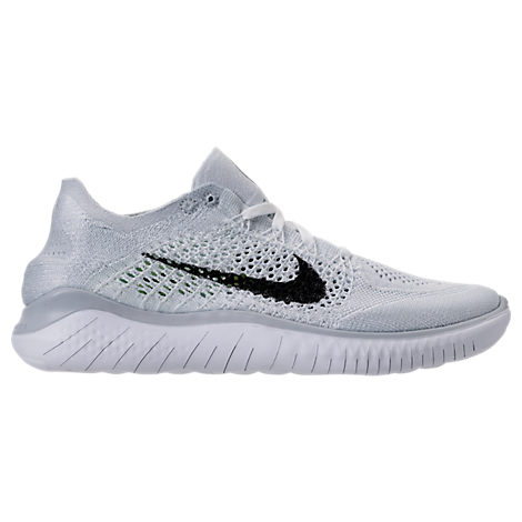 73c0cb16cb69 Nike Men s Free Rn Flyknit 2018 Running Sneakers From Finish Line In White