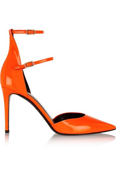 Tamara Mellon Secret Date Patent-Leather Pumps In Orange