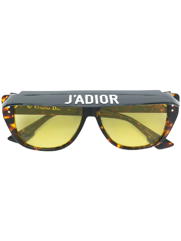 5b2cb006d8 Dior Eyewear Club 2 Tortoiseshell Visor Acetate Sunglasses In Brown ...