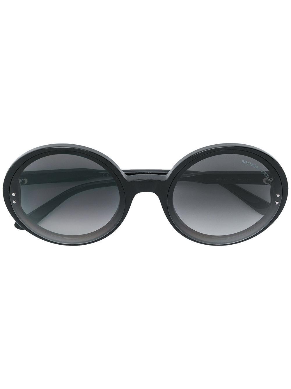 9b9d8970c65 BOTTEGA VENETA. Bottega Veneta Eyewear Oversized Round Shaped Sunglasses ...