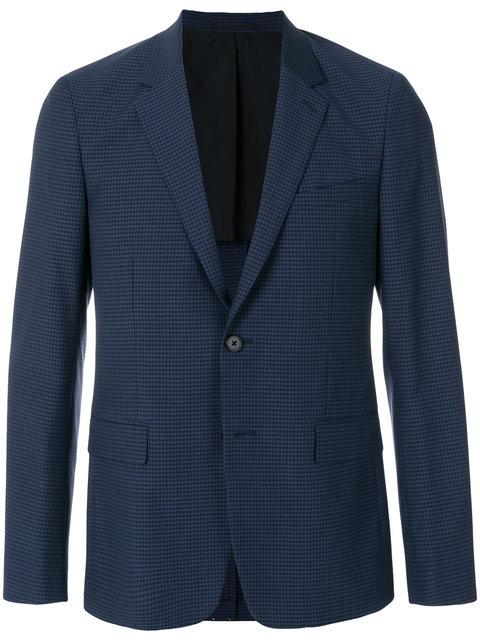 Theory Checked Blazer In Blue