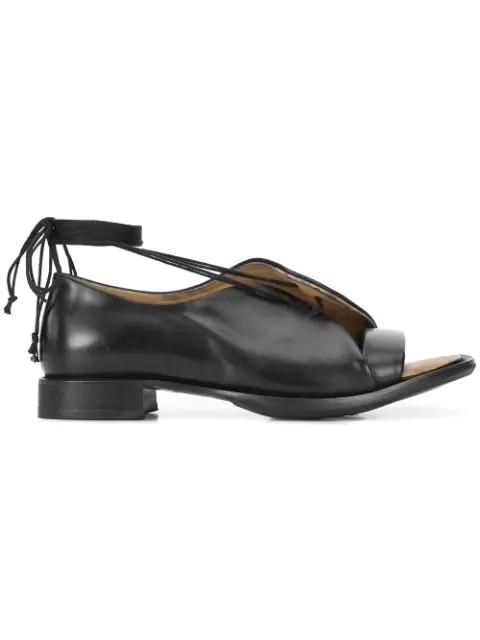 Yohji Yamamoto Open Toe Sandals In Black