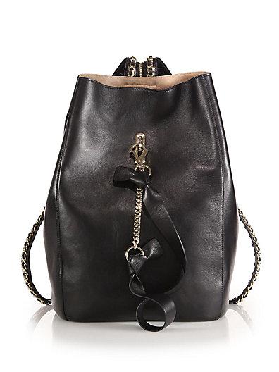 Jimmy Choo Echo Black Nappa Leather Multifunctional Backpack