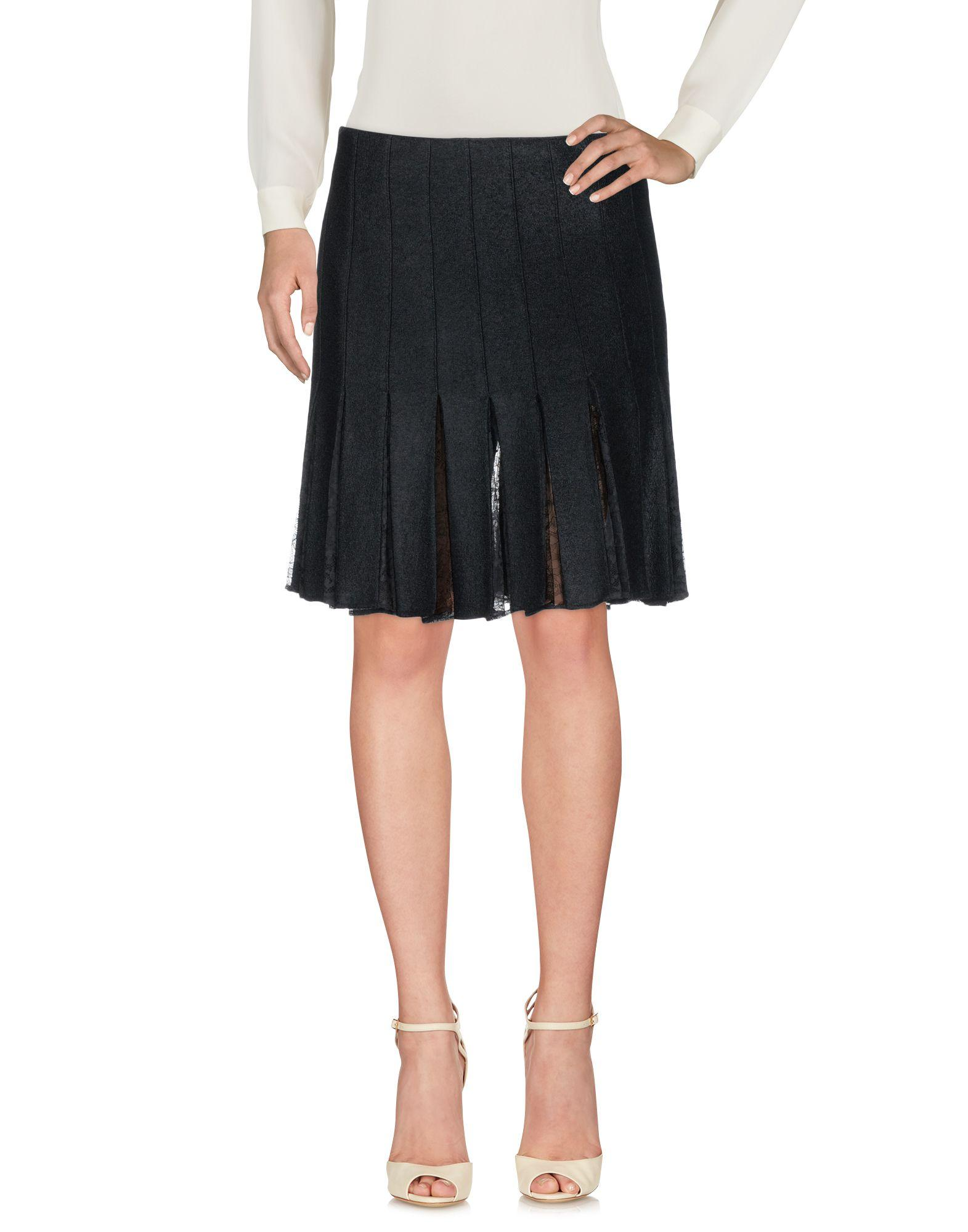 John Galliano Knee Length Skirt In Black