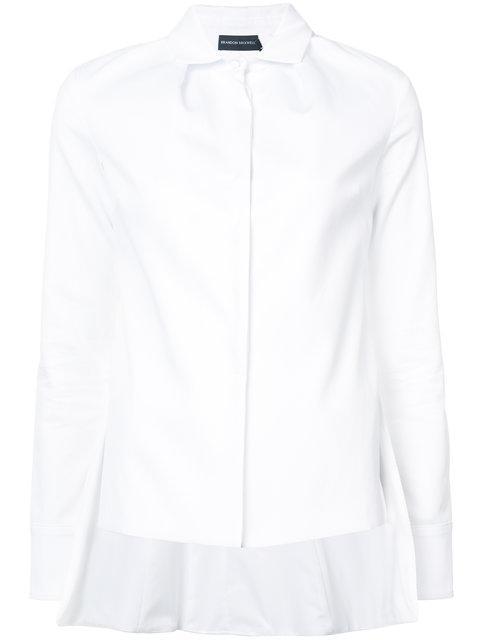 Brandon Maxwell Woman Asymmetric Cotton-blend Twill Shirt White