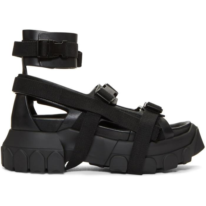 1e5cc9038 Rick Owens Hiking Black Open Toe Sandals In 09 Black | ModeSens