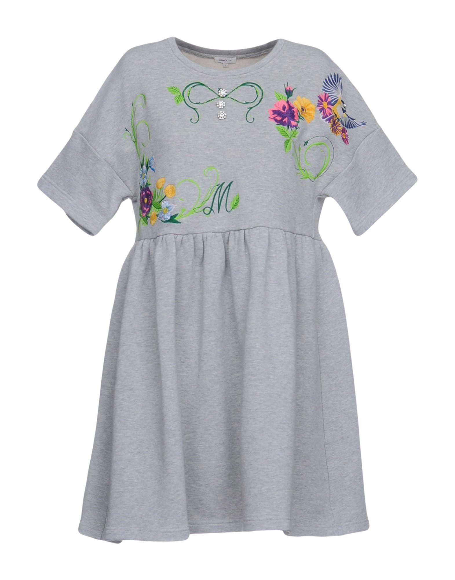 Manoush Short Dress In Grey