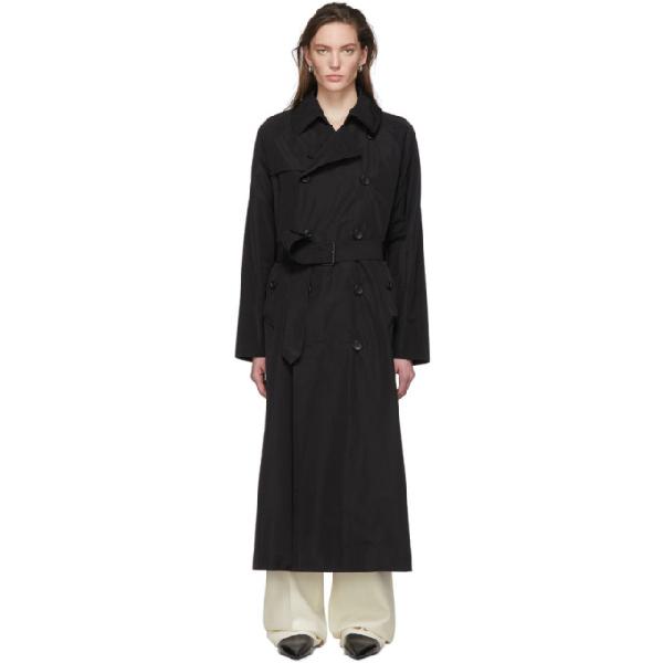 Julia Jentzsch Double Breasted Belted Long Coat - Black