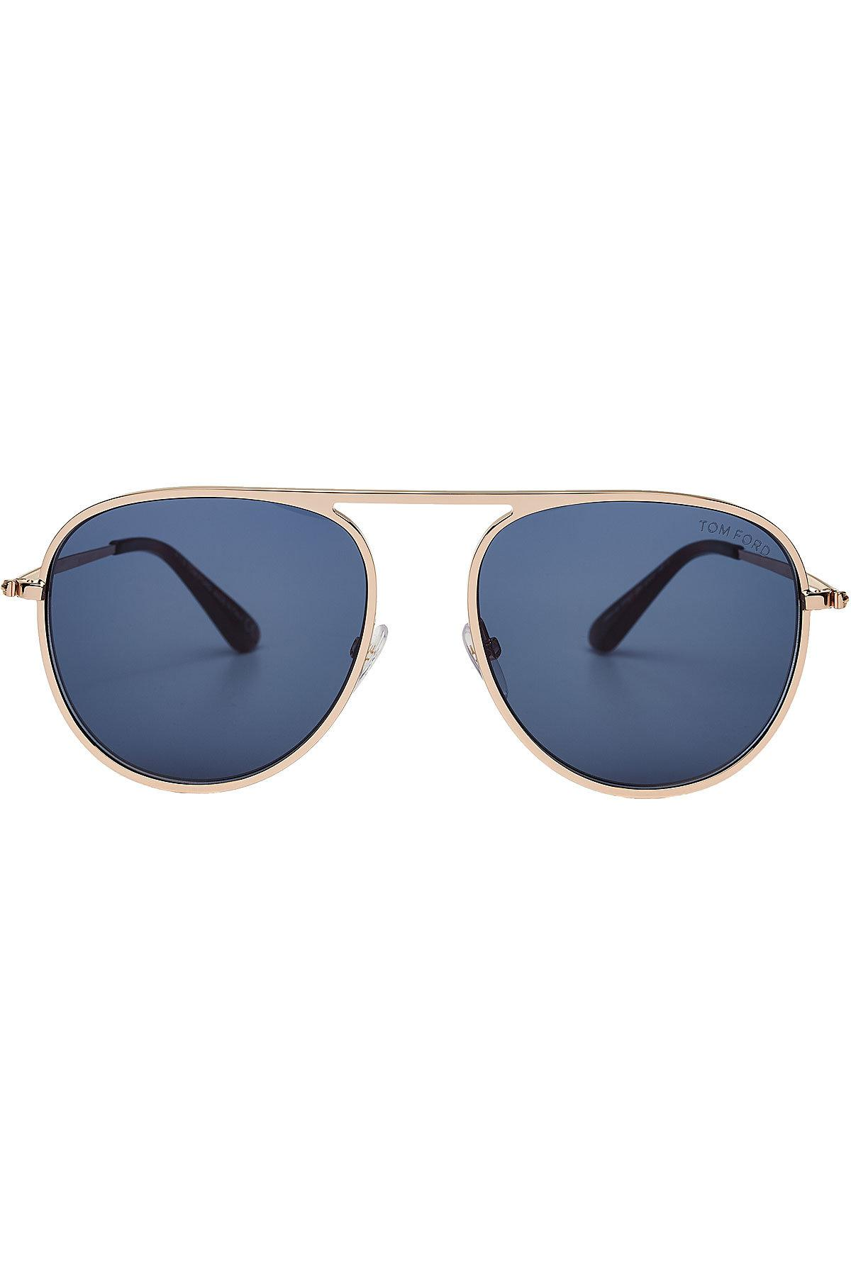 Tom Ford Round Aviator Sunglasses In Silver