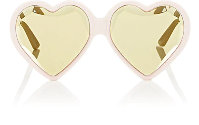896144497e398 Gucci Forever Hollywood Heart-Shaped Acetate Sunglasses In White ...