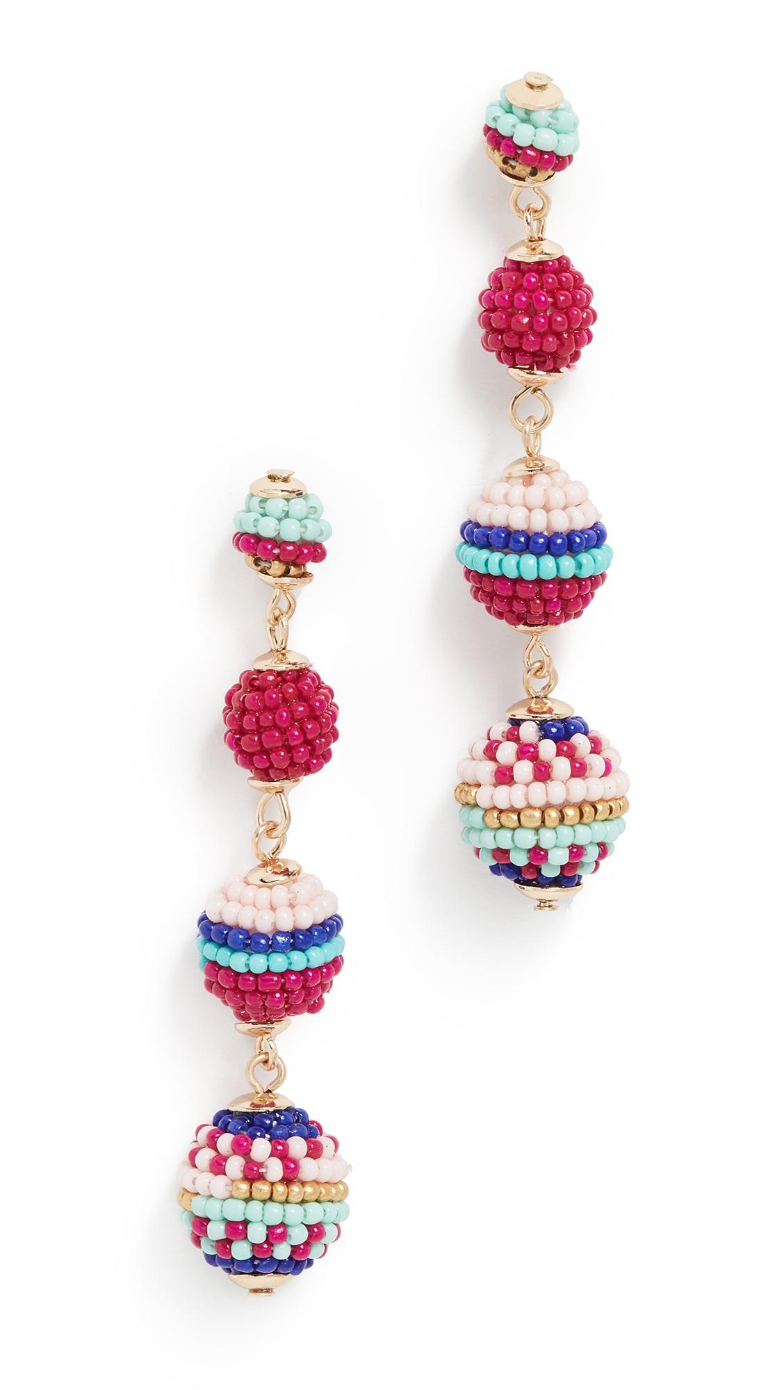 27066bf1df222 Blair Beaded Ball Drop Earrings in Pink Multi
