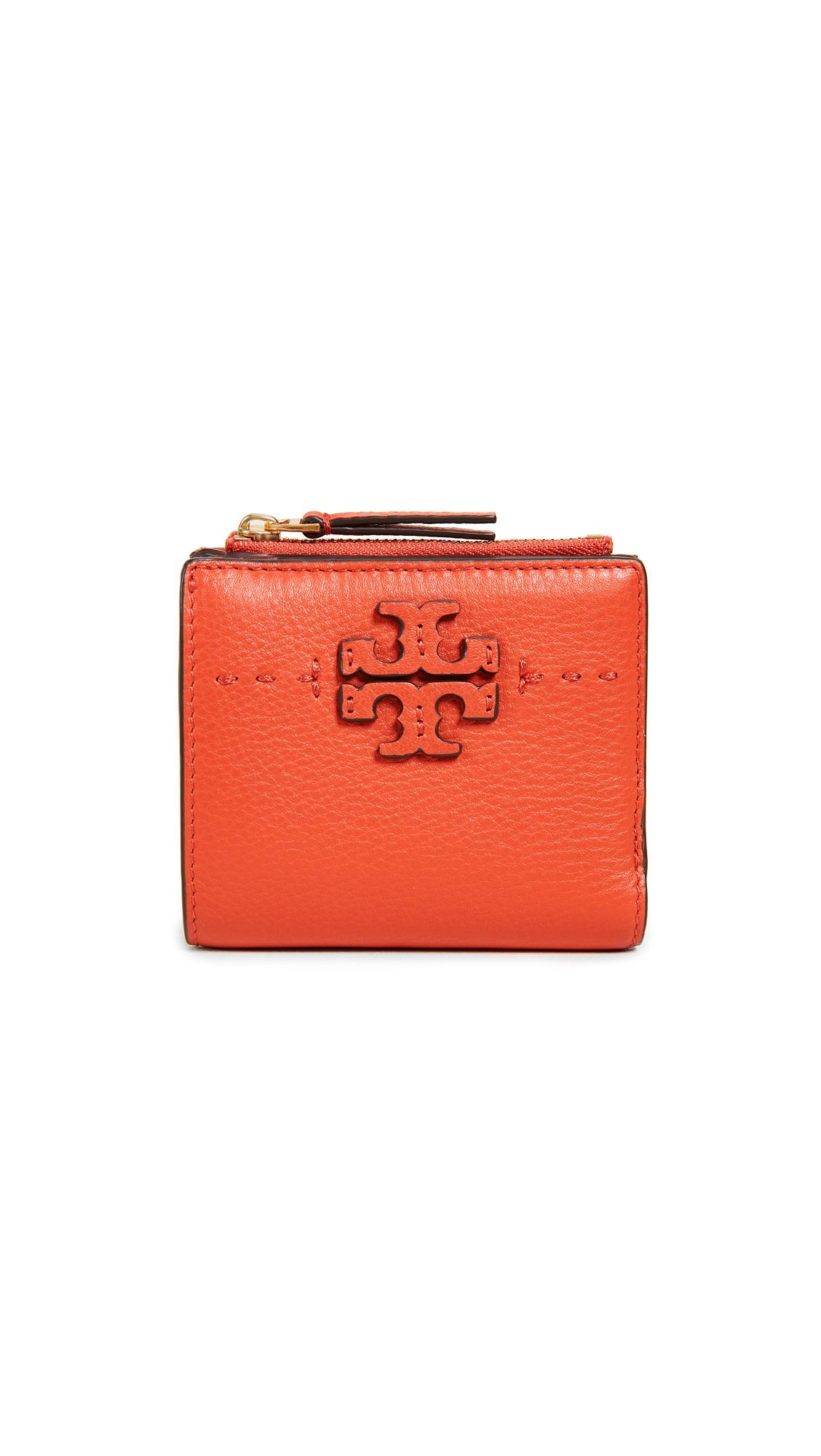 e122aac525 Tory Burch Mcgraw Mini Foldable Wallet In Poppy Red   ModeSens