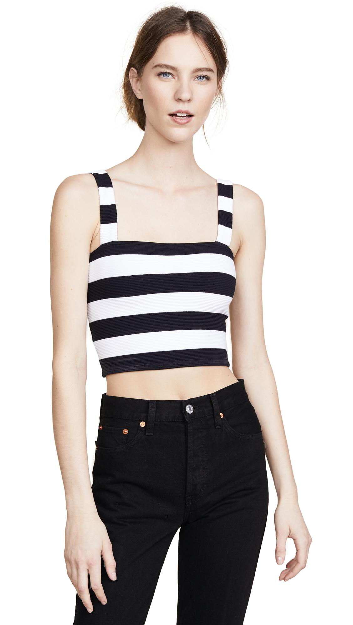 5208e70dcd3 The Range Jailhouse Stripe Crop Top In Black/White | ModeSens