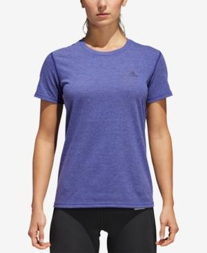 Adidas Originals Adidas Ultimate Climalite T-Shirt In Real Purple