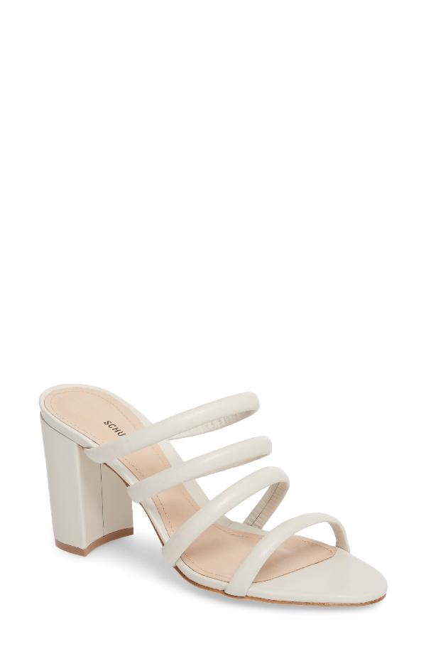 f8a335b375 Schutz Women's Felisa Leather High Block-Heel Sandals In Pearl ...