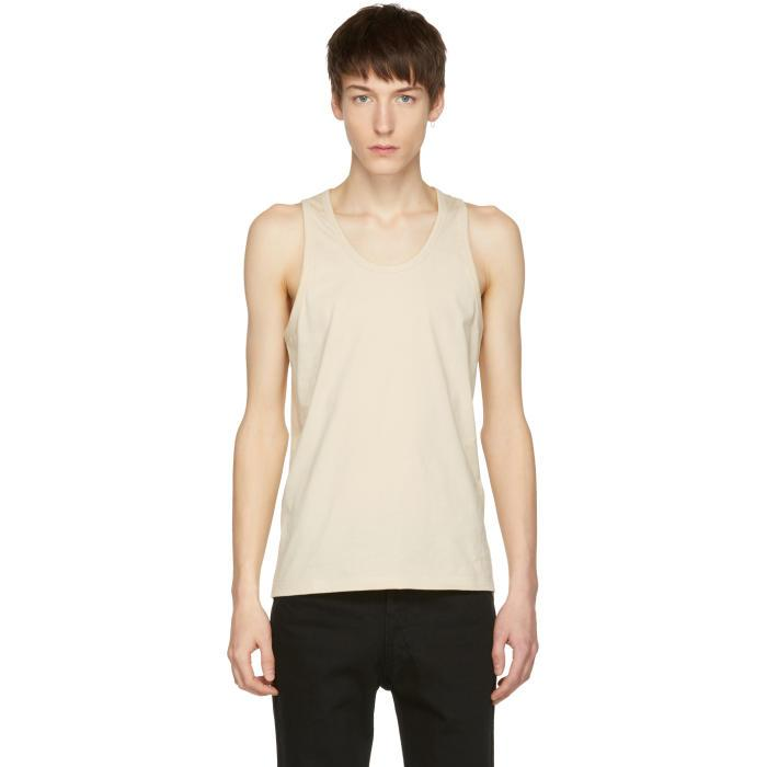 Lemaire Ssense Exclusive Beige Cotton Tank Top In 305 Nude