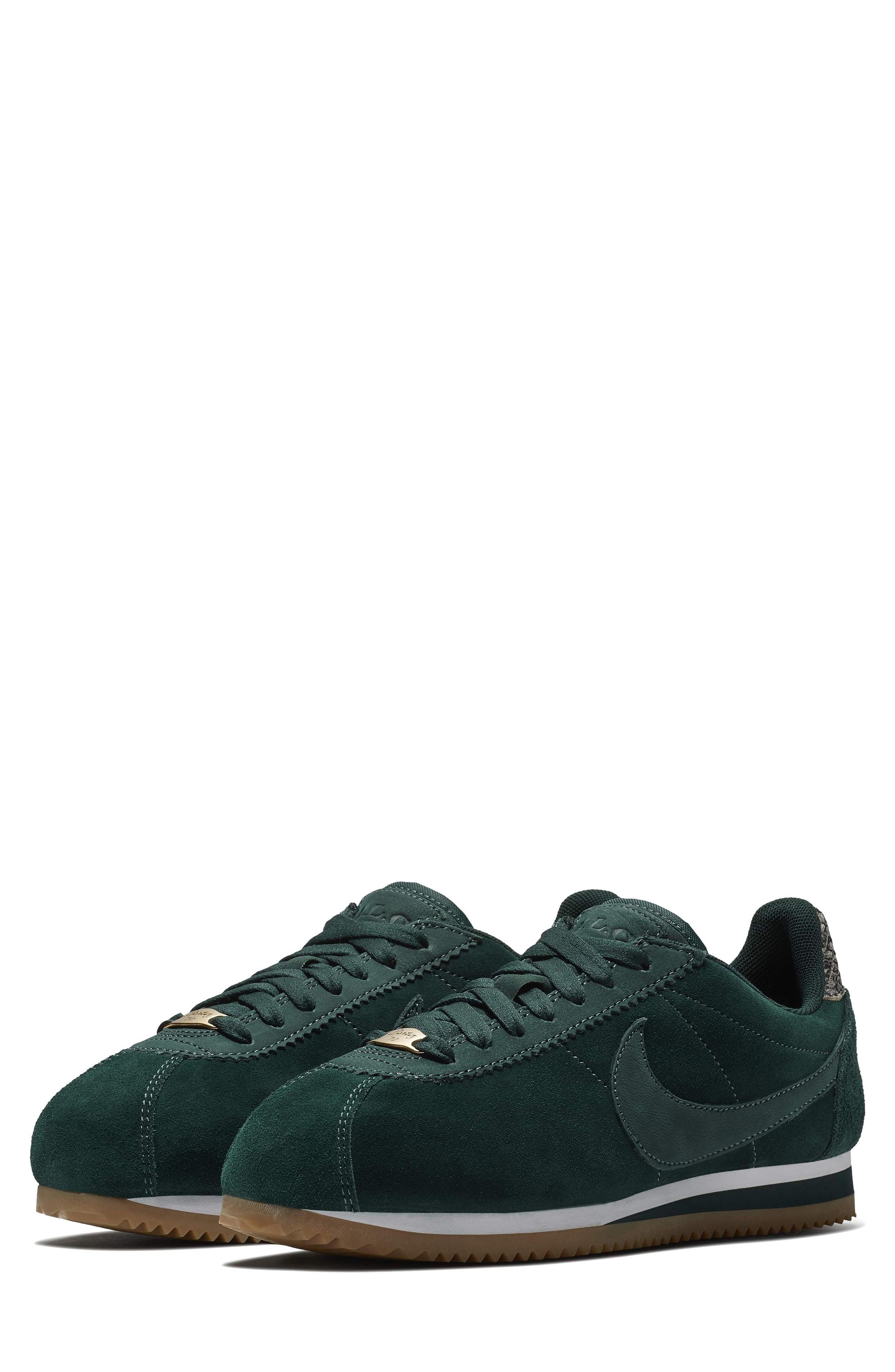 watch a66ea e446c Nike A.L.C. Classic Cortez Suede Sneakers In Dark Green