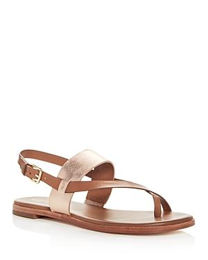 cf3c9486d18d Cole Haan Women S Anica Leather Thong Sandals In Pecan  Rose Gold Leather