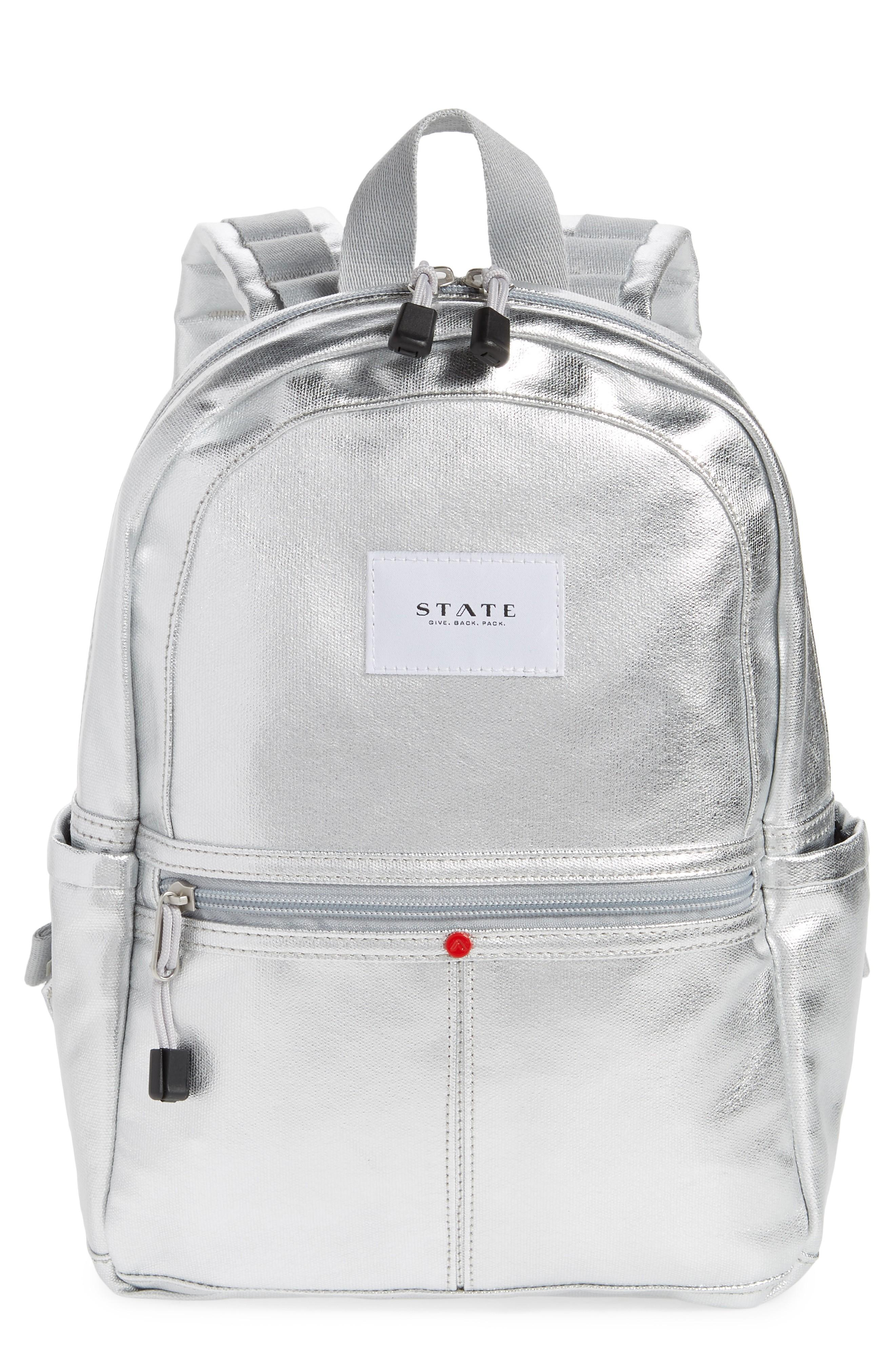 4745ab1431d State Downtown Mini Kane Canvas Backpack - Metallic In Silver