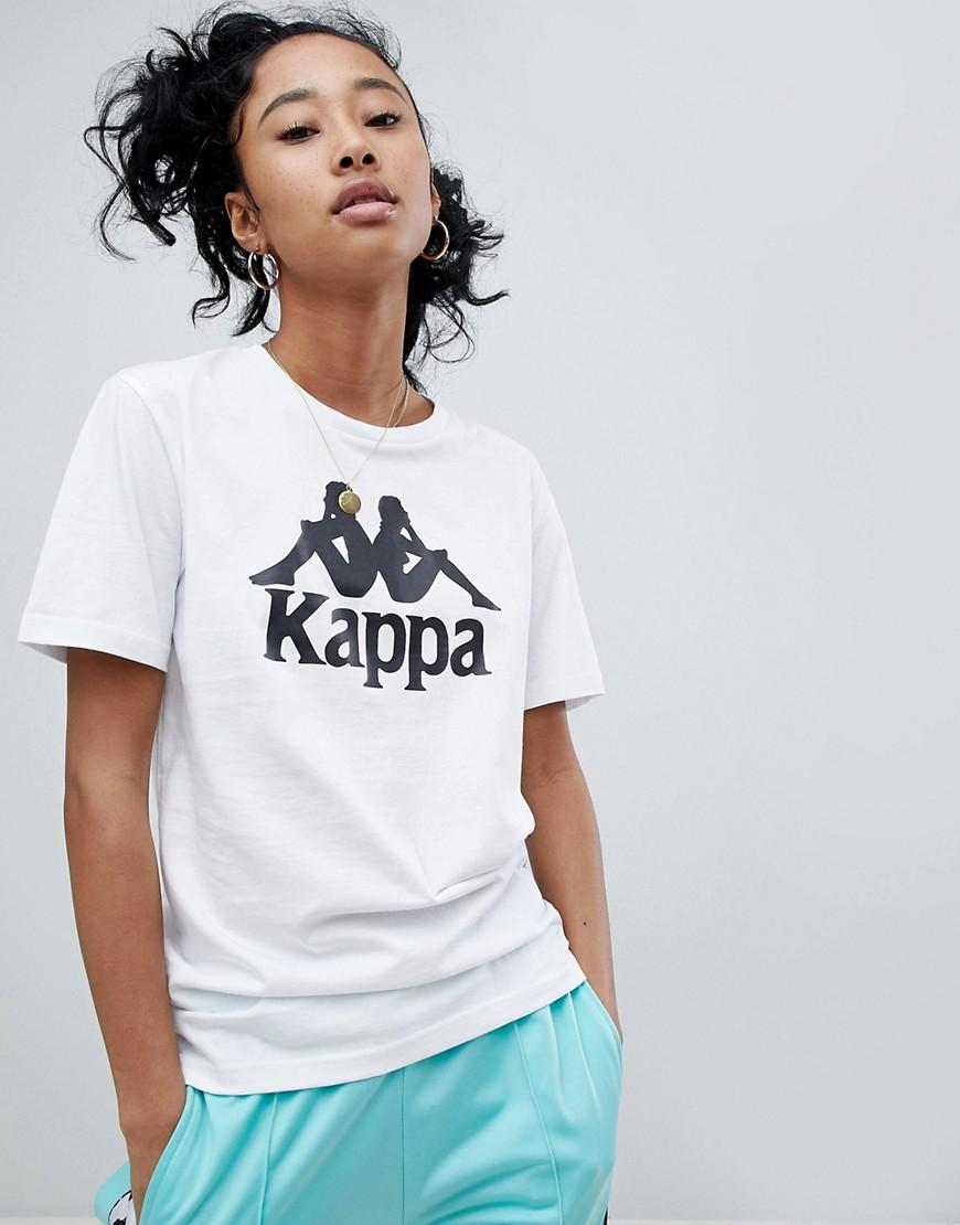 d7dd5eb9c954d Kappa Relaxed T-Shirt With Large Front Logo - White | ModeSens