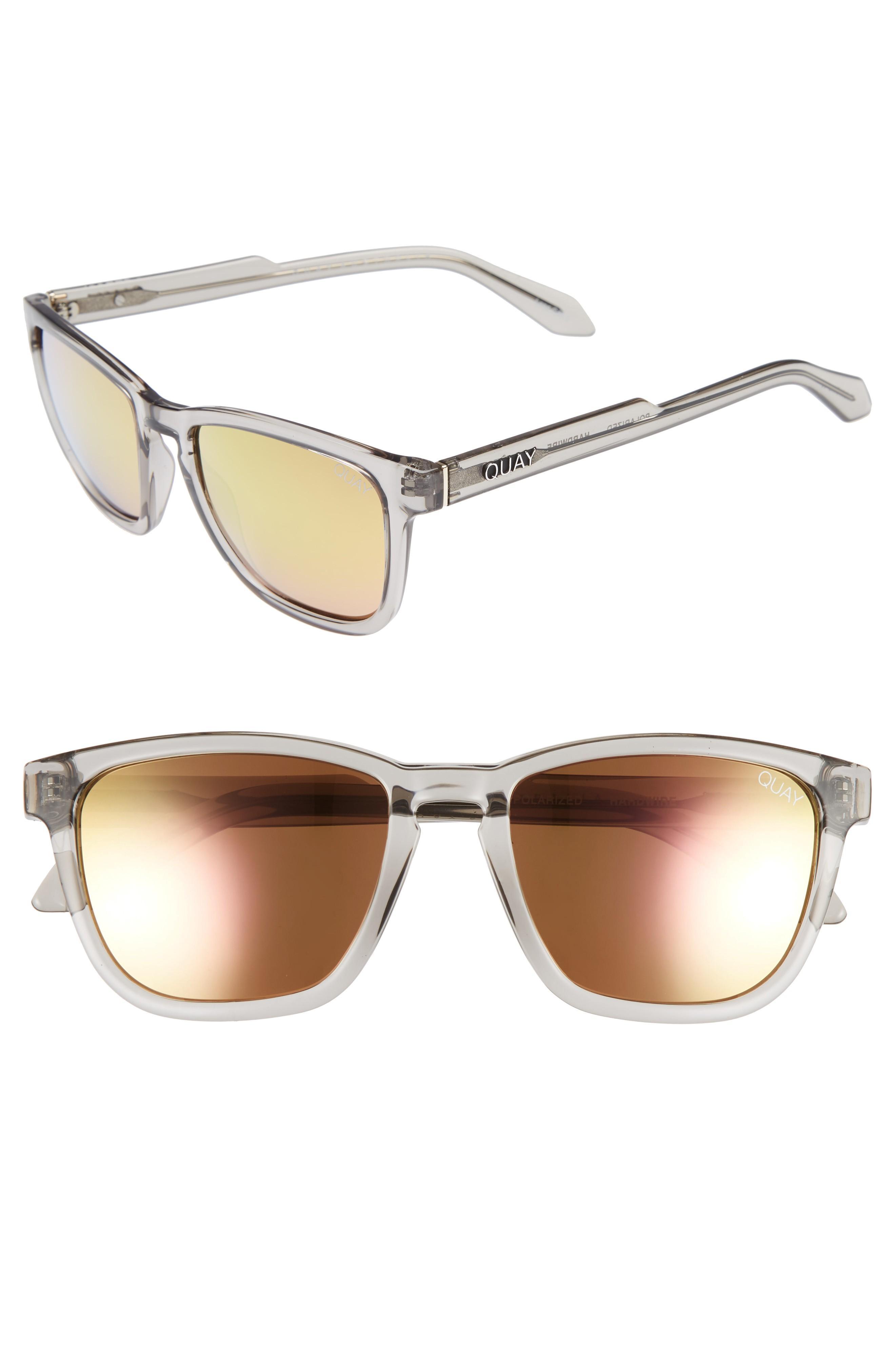 9a37587d39 Quay Hardwire 54Mm Polarized Sunglasses - Grey   Peach Mirror