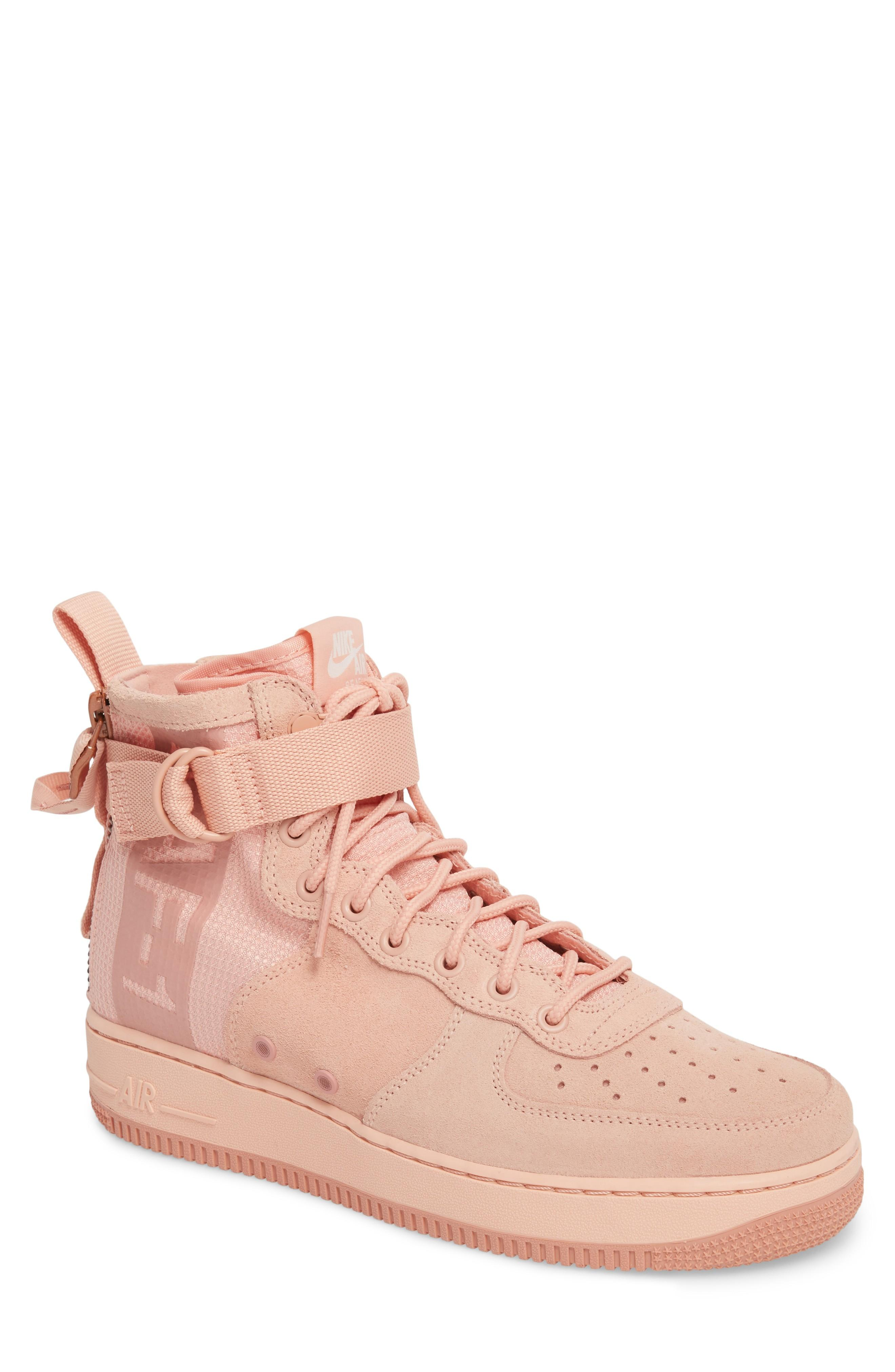 more photos 8033d 75720 Nike Sf Air Force 1 Mid Suede Sneaker In Coral Stardust  Red Stardust