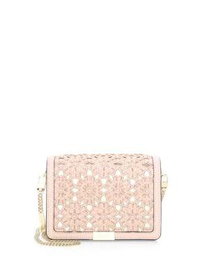 1b8e0d26f432 Michael Michael Kors Jade Medium Gusset Convertible Clutch In Soft Pink